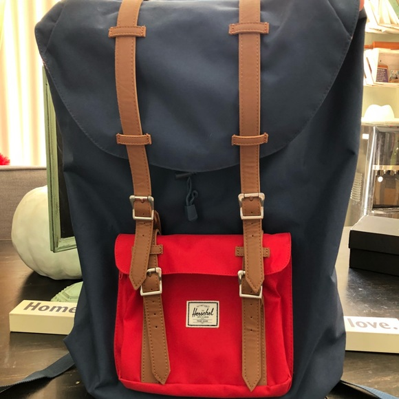cbb6fad24c Herschel Little America Backpack (Navy Blue   Red).  M 5bd4af24aa5719e527ad4fcd